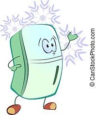 refrigerator - Illustration of green colour refrigerator...