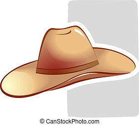 hat - Illustration of dancing hat is placed in white...