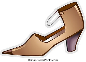 Lady shoe - Illustration of high heal ladies footwear with...