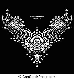 Tribal vector ethnic Mexican, African ornament - Mexican and...