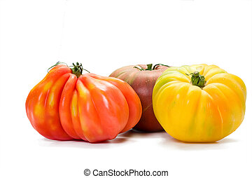 Heirloom Tomato Variety - Three different kinds of richly...