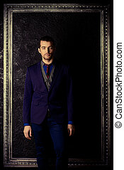 classical style - Portrait of a fashionable male model...