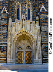 Duke Chapel - duke chapel front door