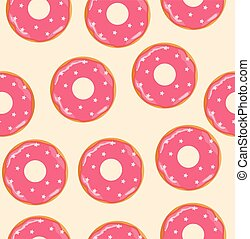 donuts pink - vector donuts background