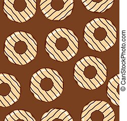 donuts seamless - vector donuts background