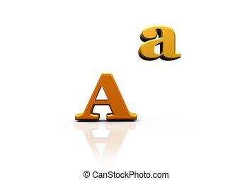 Falling Letters sign Alphabet - Falling letter figures...