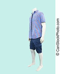 Male mannequin dressed in casual clothes
