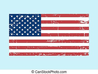 Flag USA sign Grunge. National symbol freedom - Flag USA...