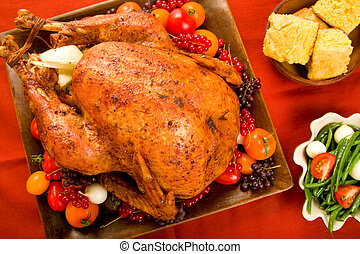 Holiday Turkey - Roast Turkey stuffed with flavorful...