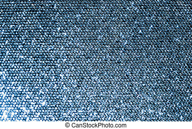 Silver Sequins Fabric - Silver fabric made of a grid of...