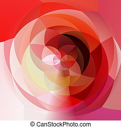 abstract modern artistic rounded floral shapes background -...