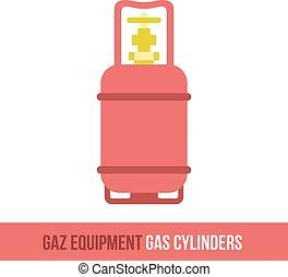 vector flat icon gas equipment - Vector flat icon gas...