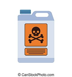 poison container with the sign of life-threatening -...