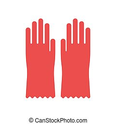 rubber glove for hygiene cleaning - Red glove for hygiene...