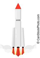 starting space rocket