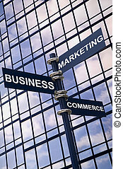 Business Marketing Commerce sign - Concept image of a...
