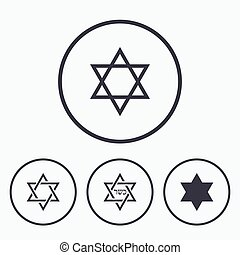 Star of David icons Symbol of Israel - Star of David sign...