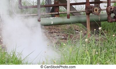 hot steam drainage Steam valve - Smoke and hot steam...