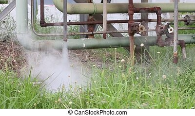 hot steam drainage. Steam valve - Smoke and hot steam...
