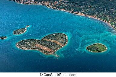 Croácia, aéreo, vista