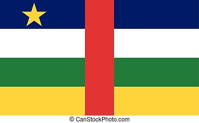 Central African Republic flag image for any design in simple...