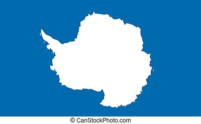 Antarctica flag image for any design in simple style