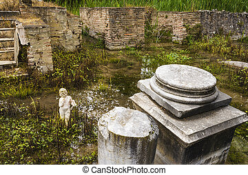 Archaic statue at ancient Dion Archeological Site in Greece...