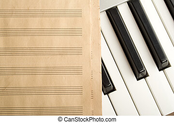 Writing music - Piano Keyboard which is the old pure musical...