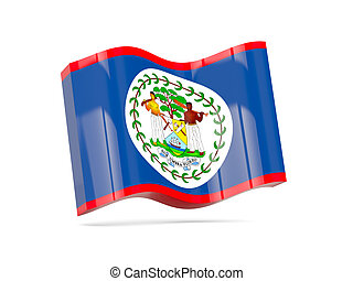 Wave icon with flag of belize