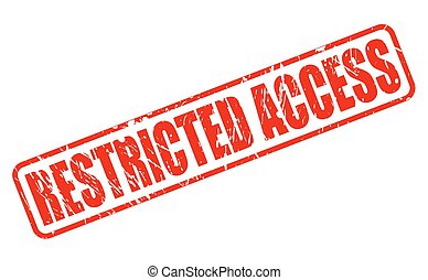 Clipart Vector of Restricted access stamp - Restricted access ...