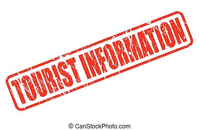 TOURIST INFORMATION red stamp text on white