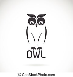 Vector images of owl design on a white background.