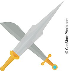 Cross swords vector illustration - Crossed swords silhouette...