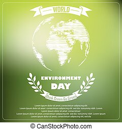 World environment day of shape