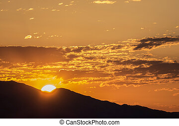 Frenchman Mountian Las Vegas Valley Sunrise - Sunrise behind...