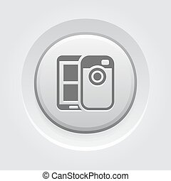 Mobile Photo Blogging Icon Mobile Devices and Services...