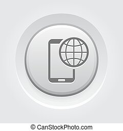 International Roaming Icon. Mobile Devices and Services...