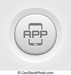 Mobile Application Icon. Mobile Devices and Services Concept...