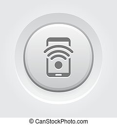 Wi-Fi Hotspot Icon Mobile Devices and Services Concept Grey...
