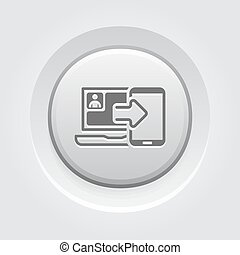 Synchronization Icon Concept - Synchronization Icon Mobile...
