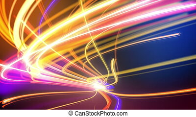 Abstract night traffic loop - Abstract night traffic lights...