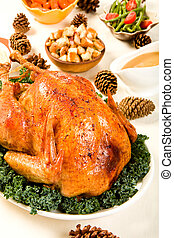 Holiday Turkey - Delicious Turkey with dressing, vegetables...