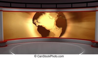 News TV Studio Set- 102 - News TV Studio Set 102 - Virtual...