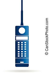 Old mobile cellular phone logo. Vector graphic design