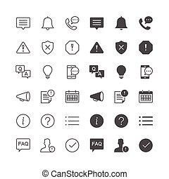Information and notification icons - Simple vector icons...
