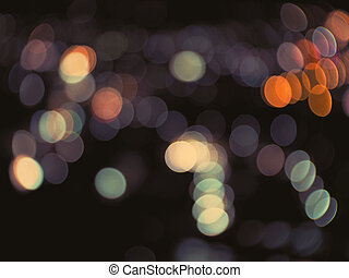 Light bokeh background with vintage filter effect