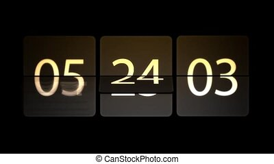 Chaotic moving clock. Clocks are set at 08:00 start a new...