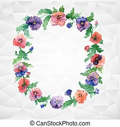 Ethnic pattern of flowers - Vector flowers with dots....