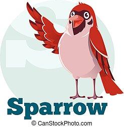 ABC Cartoon Sparrow2 - Vector image of the ABC Cartoon...