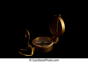 Compass isolated on black background